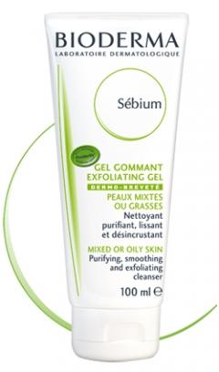 Гель-скраб с микрогранулами Биодерма Sebium Exfoliating Purifying Gel Bioderma