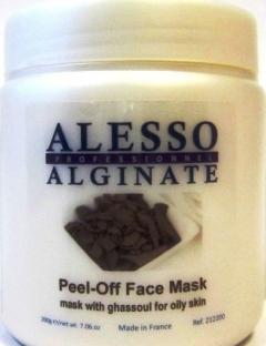 Альгинатная маска с глиной Гассул для жирной кожи Алессо Peel Off Mask Ghassoul Alesso