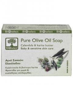 Натуральное мыло с календулой БиоСелект Soap organic for baby & sensitive skin care BIOSelect