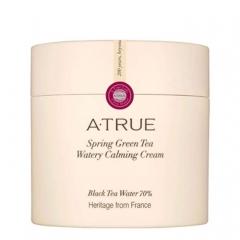 Успокаивающий крем для лица для увлажнения и осветления кожи Spring Green Tea Watery Calming Cream A-True