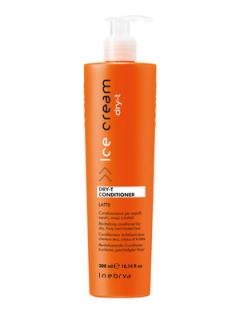 Кондиционер для сухих, окрашенных и вьющихся волос Инебрия Ice Cream Dry-T Conditioner Inebrya