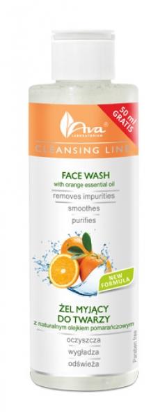 Очищающий гель с апельсиновым маслом АВА Лабораториум Face Wash with orange essential oil AVA Laboratorium