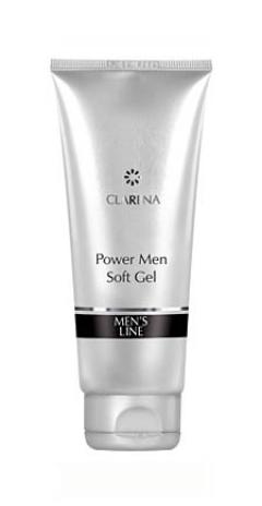 Смягчающий и очищающий гель для мужской кожи Кларена POWER MEN SOFT GEL Clarena