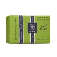 Натуральное мыло с оливой Апивита Natural Soap with Olive Apivita