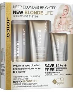 Набор подарочный (Шампунь + Кондиционер + Маска для сохранения яркости блонда) Джойко Blonde Life Brightening (Shampoo+Conditioner+Mask) Joico