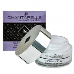Ночной крем с миндальной кислотой, увлажняет и регулирует выделение себума Шантарель NORMACELL Mandelic Acid Night Cream Chantarelle