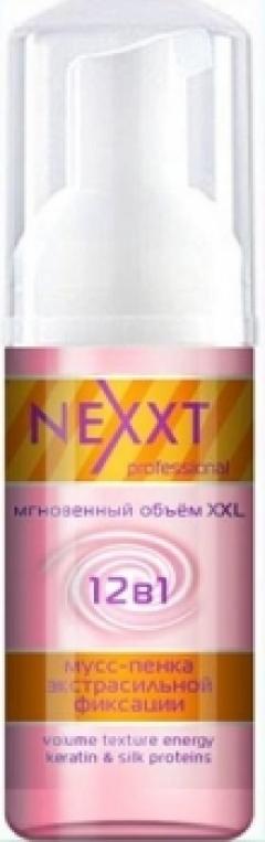 Мусс-пенка для объема экстрасильной фиксации Некст Профешнл Volume Texture Energy Nexxt Professional
