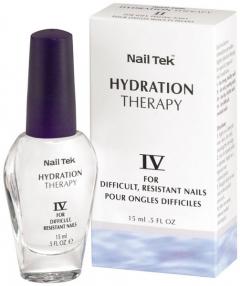 Лечебное средство высокой активности для очень слабых и тонких для ногтей, не поддающихся стандартному лечению Нейл Тек Hydration Therapy IV Nail Tek