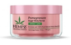 Сахарный скраб для тела с гранатом Хемпз Pomegranate herbal sugar body scrub Hempz