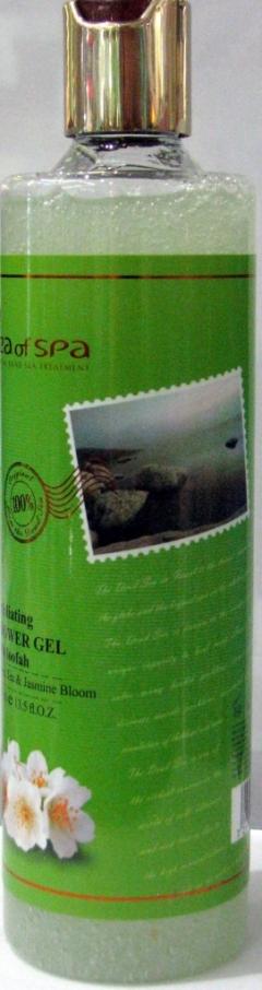 Отшелушивающий гель для душа с люфой Жасмин и Зеленый чай Си Оф Спа Exfoliating Shower Gel Jasmin & Green tea Sea Of Spa