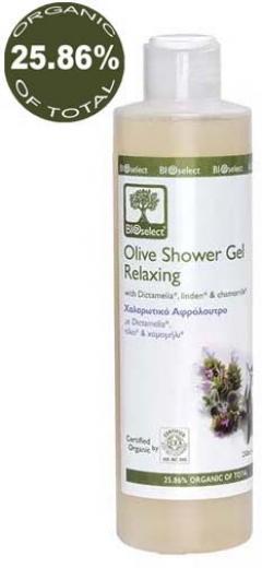 Расслабляющий гель для душа БиоСелект Olive Shower Gel / Relaxing BIOSelect