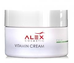 Укрепляющий, питательный крем для для сухой и чувствительной кожи Алекс Косметик Vitamin Cream Alex Cosmetic