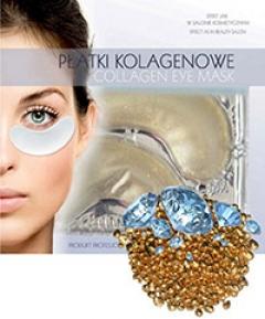 Коллагеновый пластырь для глаз с золотом и бриллиантами Бьюти Фейc Kolagen poprawka oka zlotem i brylantami Beauty face