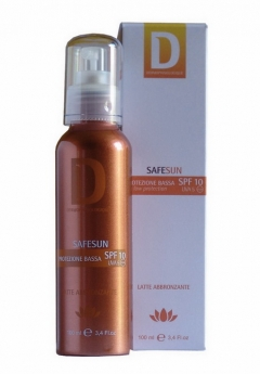 Солнцезащитное молочко-спрей для бронзового загара Дермофизиолоджик Latte Abbronzante Spray SPF10 Dermophisiologique