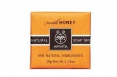Натуральное мыло с медом Апивита Soap with honey Apivita