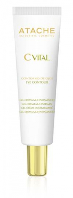 Мультивитаминный гель-крем для контура глаз Атаче Eye Contour Gel Cream Multivitamin Atache