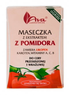 Маска с экстрактом томата в пакетиках АВА Лабораториум Mask with tomato extract in sachets AVA Laboratorium
