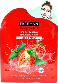 Тканевая маска очищающая поры Клубника и Мята Фриман Pore Cleansing Sheet Mask Freeman