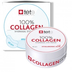 Гиалуроновые патчи для глаз с гиалуроновой кислотой Тете 100% Collagen Hydrogel Patch Tete