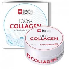 Гиалуроновые патчи для глаз с гиалуроновой кислотой Тете 100% Collagen Hydrogel Patch Tete