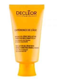 Антивозрастная гель-крем маска для лица и шеи тройного действия Деклеор Experience De L'age - Triple action gel-cream mask Decleor