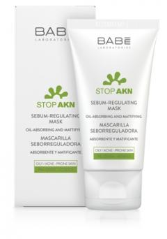 Себорегулирующая маска Бэйби Лабораториз Stop AKN Sebum-Regulating Mask  Babe Laboratorios