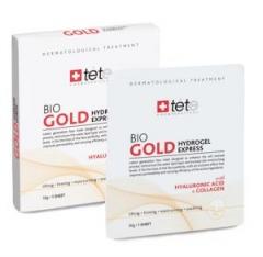Гидрогелевая омолаживающая маска с коллоидным золотом Тете Bio Gold Hydrogel Mask Tete
