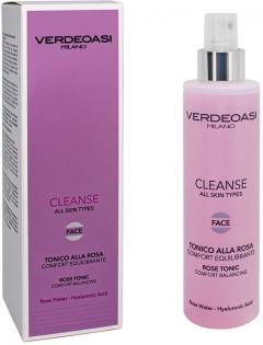 Балансирующий тоник с экстрактом розы Вердеоаси Cleanse Rose Tonic Comfort Balancing Verdeoasi